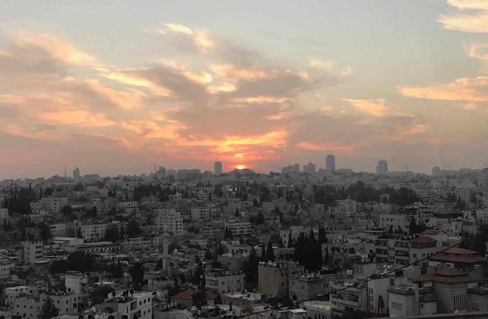 Sunset over jeruselam