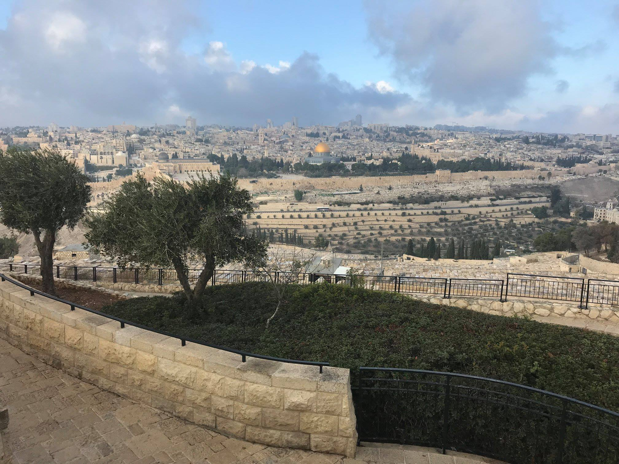 mount of olives view from gesthemane-min