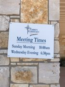 Meeting Times Sign