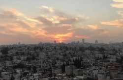 Sunset over jeruselam