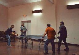 Intense Ping Pong Match